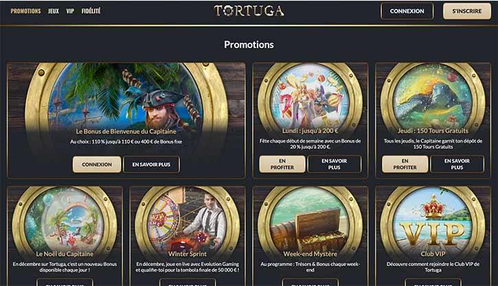 Bonus Tortuga Casino
