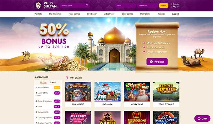 Accueil Wild Sultan Casino